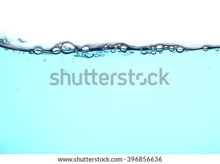 fresh water with bubbles