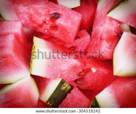 Fresh Watermelon - stock photo