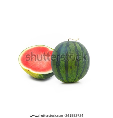 Fresh watermelon isolate on white background