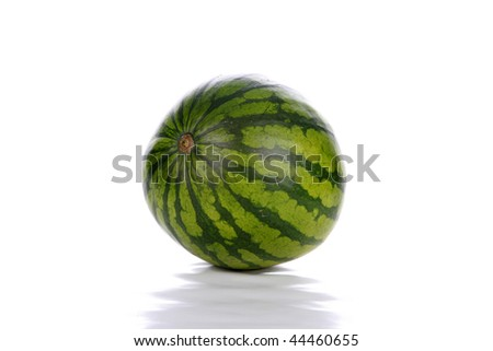 Fresh watermelon isolated on white with room for your text