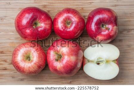 Fresh whole gala apples - stock photo