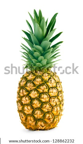 Fresh whole pineapple - stock photo