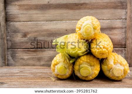 Fresh yellow corn - stock photo