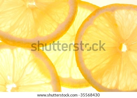 fresh yellow lemon - stock photo