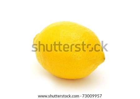 Fresh yellow lemon isolated on white background