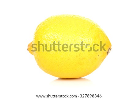 Fresh Yellow Lemon on White Background