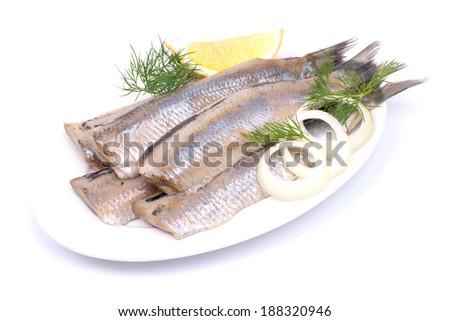 Fresh young herring - stock photo