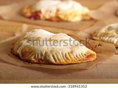 Freshly Baked Calzone - stock photo