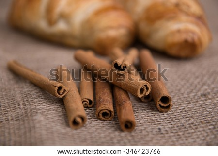 freshly baked delicious croissant