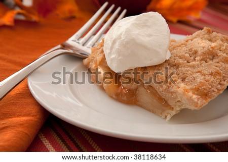 Freshly Baked Dutch Apple Pie - stock photo