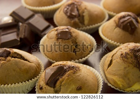 Freshly baked muffins/Fresh baked muffins - stock photo