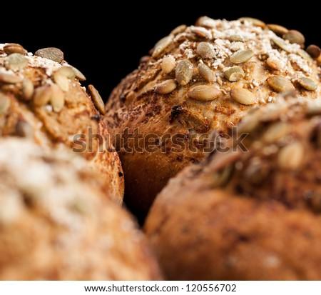 Freshly Baked Whole Grain Bread Rolls - stock photo