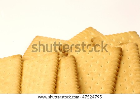 freshly baked wholemeal cookies on a white background