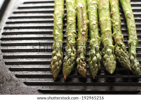 freshness green asparagus from Japan for early summer vegetable cooking image - stock photo