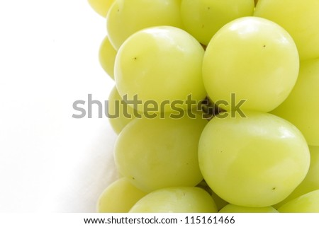 Freshness Muscat on fruit basket with copy space - stock photo