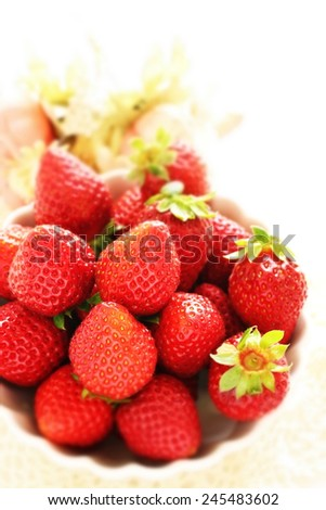freshness strawberry from Japan  - stock photo