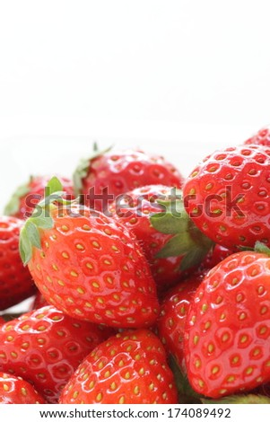 freshness strawberry from japan with copy space,