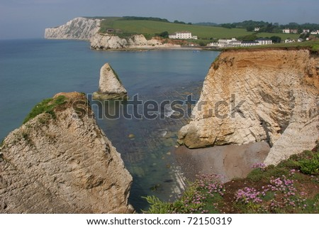 Freshwater Bay, Isle of Wight - stock photo