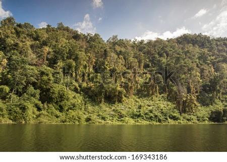 """Freshwater lakes, dams store water """"Kiewlom"""" Lampang Thailand. - stock photo"""