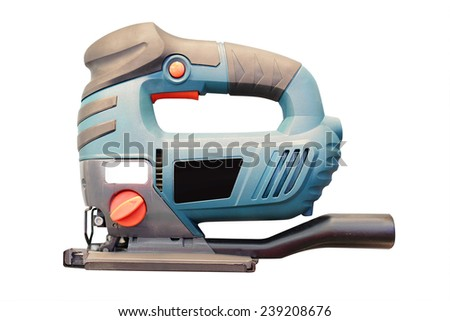 fret-saw under the white background - stock photo