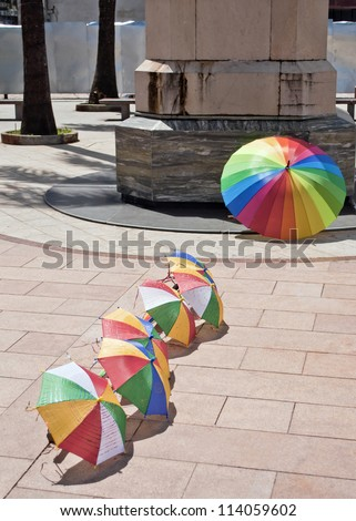 frevo parasol - Recife - Brazil - stock photo