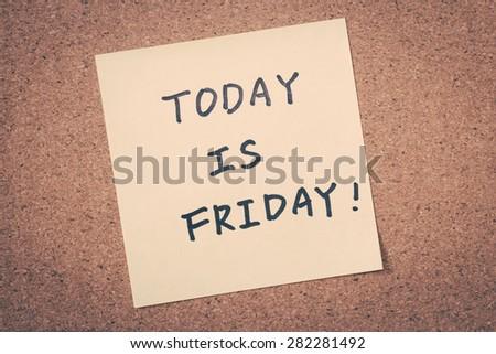 Friday - stock photo