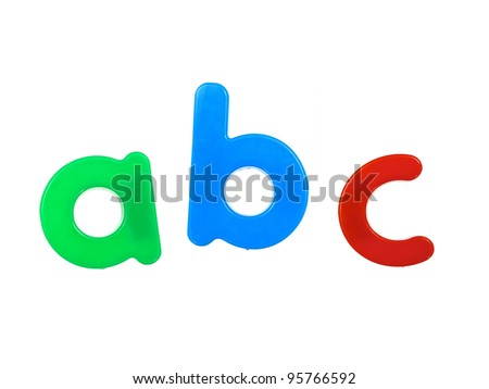 Fridge magnets isolated against a white background - stock photo