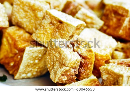 Fried beancurd puff - stock photo