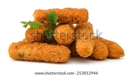 fried cheese sticks  - stock photo