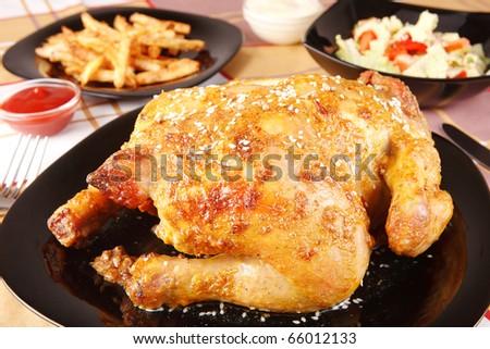 fried chicken - stock photo