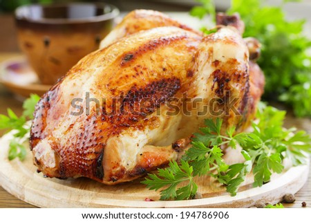 Fried chicken. festive dish. - stock photo