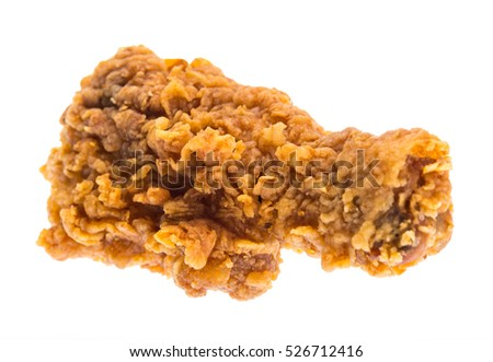 Fried chicken isolated on white background.