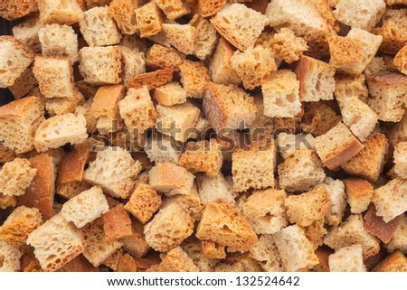 Fried croutons, background