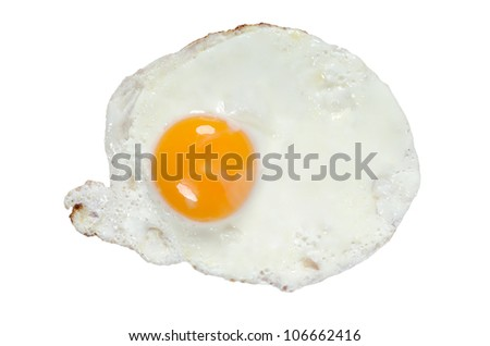 fried egg isolated bevor white background