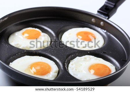 Fried eggs - Sunny side up   - stock photo