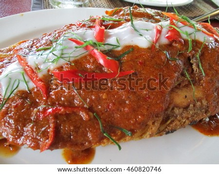 Fried fish and chili sauce