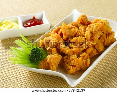 fried nuggets - stock photo