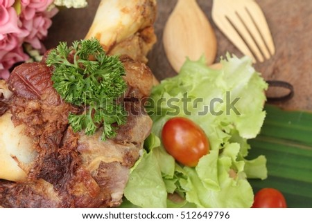 Fried pork knuckle is traditional german food