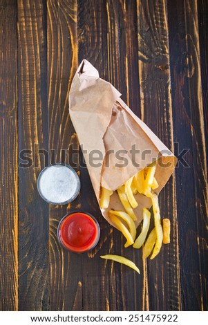 fried potato  - stock photo