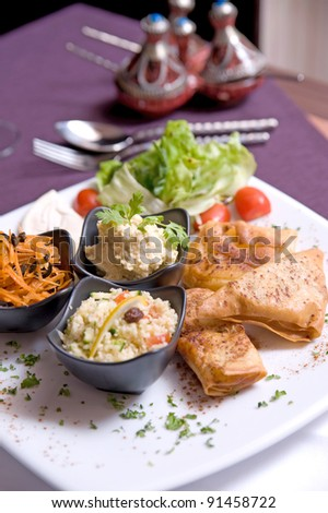 Fried Potato Samosa - stock photo