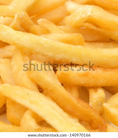 Fried potatoes closeup - stock photo