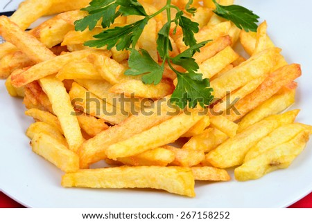 fried potatoes in dish