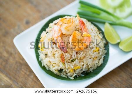 Fried rice, Thai cuisine - stock photo