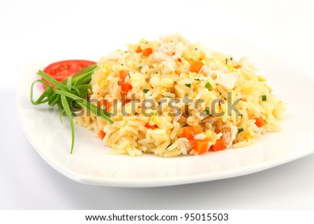 fried rice ,Thai cuisine - stock photo