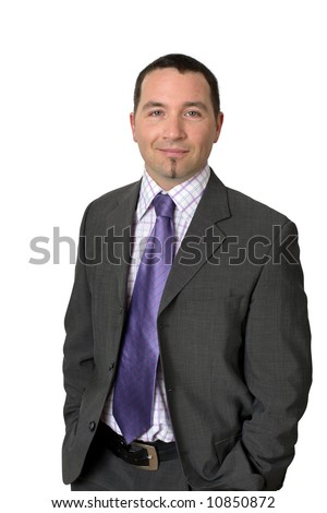 Friendly attractive businessman in his thirties.
