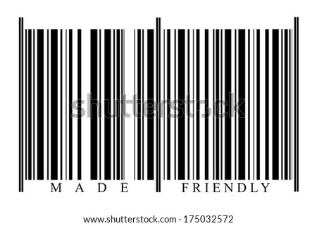 Friendly Barcode on white background