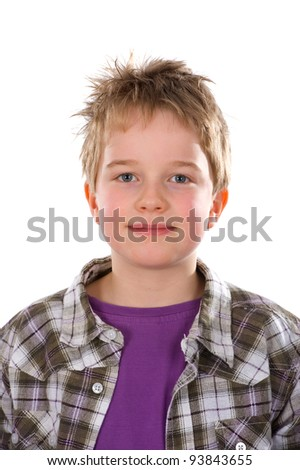 friendly boy - stock photo