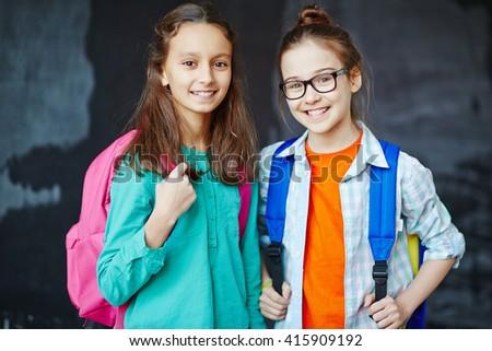 Friendly girls - stock photo