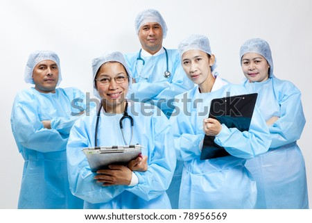 Friendly group of doctors