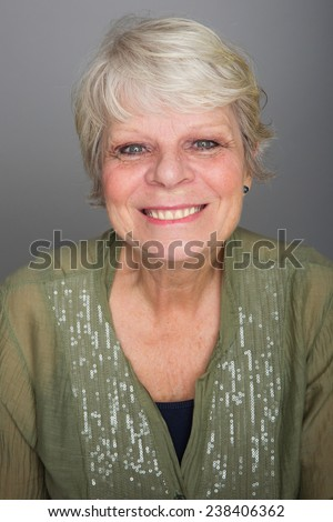 friendly old woman - stock photo